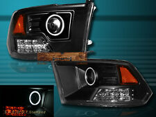 09 10 11 12 DODGE RAM 1500 2500 3500 CCFL HALO PROJECTOR HEADLIGHTS LED BLACK
