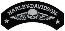 HARLEY DAVIDSON Military Wings with Willie G Skull  5 INCH PATCH