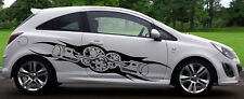 2 X BIOMECHANICAL CAR VAN TRAILER BODY PANEL WALL DECALS STICKERS GRAPHIC 4-5-1