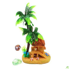 Coconut Tree Castle Fish Tank Aquarium Landscaping Underwater Ornament Decor