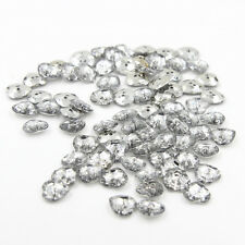 Sewing Coat Craft 2-hole Clear Crystal Heart Acrylic Plastic 15mm Button 100Pcs