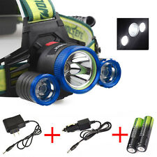 Skywolfeye 30000Lumen 4Mode CREE XML 3xT6 LED Headlight Headlamp+2X18650+Charger