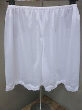 Vintage Petti Pants Half Slips Short Nylon Underwear Floral Lace Lingerie ,White