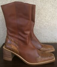 WHITE MOUNTAIN Boots STALLION Western Brown Leather Snake SIZE 10