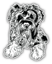Miniature Schnauzer Dog Sketch Car Bumper Sticker Decal 4'' x 5''