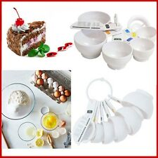Measuring Cups Set TALA 7 Piece White Measure Kitchen Bakery Accessory Sturdy