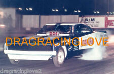 """Hawaiian"" Larry Reyes driven 1969 Dodge Charger NITRO Funny Car nite PHOTO!"