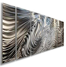 Modern Abstract Silver Metal Wall Art Sculpture Original Home Decor Jon Allen