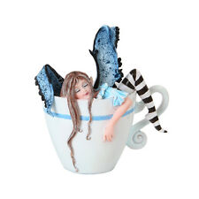 I NEED COFFEE FAIRY Figurine Faery Figure Amy Brown teacup faerie cup mug statue