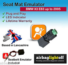PASSENGER SEAT OCCUPANCY BYPASS MAT SENSOR Emulator AIRBAG PER BMW X3 Serie E83