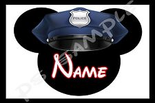 4x6 Disney Cruise Stateroom Door Magnet - POLICE POLICEMAN MICKEY - Personalized
