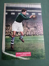 GRAHAM VERNCOMBE - CARDIFF CITY PLAYER-1 PAGE MAGAZINE PICTURE- CLIPPING/CUTTING