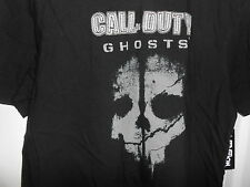 New Men's Activision Black Call of Duty Ghosts Video Game T-Shirt XL NEW NWT