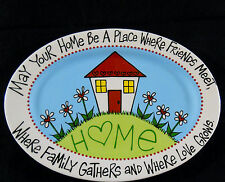 """Cracker Barrel Collectible Large Oval Platter 13"""" D w/ Saying New in Box"""