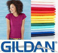 22, 30, 50 or 100 GILDAN 6400L LADIES FASHION FIT T-SHIRTS WHOLESALE BULK LOT