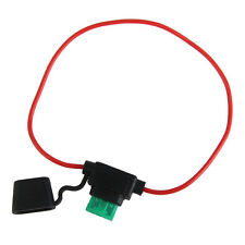In Line Small Blade Fuse Holder Splash Proof Wire Cable for 12V 30A Car Bike