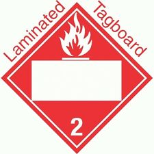 Blank Window Flammable Gas Class 2.2 Laminated Tagboard Placard (Pack of 50)