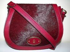 NEW WOMEN'S FOSSIL LEATHER VINTAGE REISSUE CROSSBODY SHOULDER BAG CRANBERRY