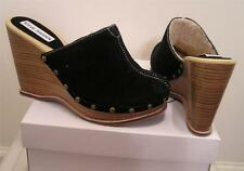 NEW STEVE MADDEN Womens Suede Clogs Mule Shoes 7M Wedge