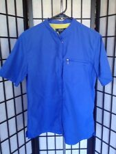 Rockport XCS Size Medium Blue & Yellow Zip Front With Zip Up Sides Sports Top