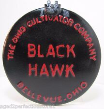 Old Black Hawk The Ohio Cultivator Company Bellevue Ohio Cover metal hinged sign