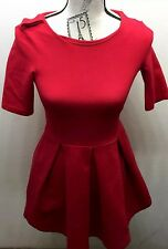 Classic Zara Little Red Women Dress XS Cotton Made In Portugal