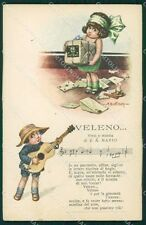Bertiglia Spartito Musicale Note Children Serie 2285 postcard cartolina QT5346