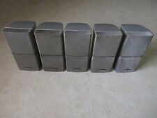 5 Bose Double Cube Speakers Silver Acoustimass Lifestyle