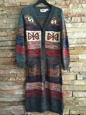 VINTAGE 70's ETHNIC NAVAJO SOUTHWEST INDIAN BLANKET BOHO MAXI CARDIGAN SWEATER