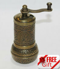 Turkish Pepper Salt Grinder Coffee Spice Grinder Mill 4.3 inch + FREE GIFT  (3)