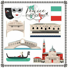 SC - Venice Cut Outs Scrapbooking Paper - 1 sheet - 37706 - Italy