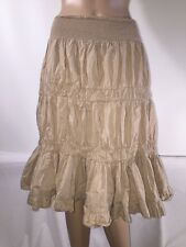Chelsea & Theodore Peasant Skirt Bohemian Style Mid-Calf Faux Tier Ruffle Small