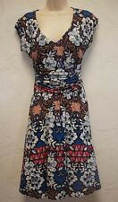 Meadow Rue for Anthropologie Floral Print Jersey Knit Dress Size XS