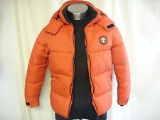 Boys Snow Jacket NEXT 11 years, bright red puffy, fleece lined, hood, VGC 7188