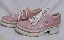 New listing Vintage Sketchers Lug Sole Lace Up Sneakers 90s Grunge 7 Pink Platform