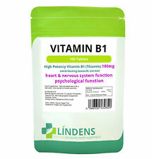 Vitamin B1 Thiamin 100mg Tablets x 100 Lindens Mosquito Repellent Supplement