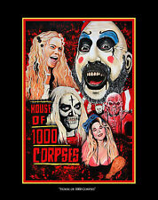 11x14 inch Rob Zombie House of 1000 Corpses Art Print w/ black matte