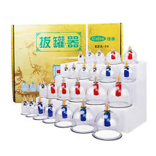 24 CUPS CUPPING SET Slimming Vacuum Therapy Massage Acupuncture cofoe HOT