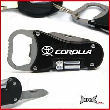 TOYOTA COROLLA Lasered Logo Keyring / Pocket Knife / LED Torch / Bottle Opener
