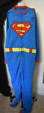DC Comics Superman Full Suit One Pc Sleepware Lounge Sz Lg NWT Superhero Costume