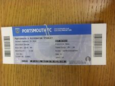 25/02/2014 BIGLIETTO: Portsmouth V Accrington Stanley. grazie per la visualizzazione di questo si
