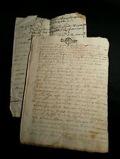 LOT OF TWO DOCUMENTS    1600s