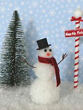 "Dollhouse Miniature Winter Snowman w/Top Hat & Scarf 1"" Scale 1:12 Holiday Fairy"