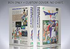 DRAGON QUEST 5. JAPAN VERSION. Box/Case. Super Nintendo. BOX + COVER. (NO GAME).