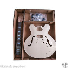 ES Mahogany HY-230DG Semi Hollow body Electric Guitar DIY Kit for Luthier maker
