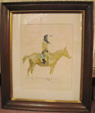 "Frederic Remington Print ""A Cheyenne Buck"" in Frame (1956)"