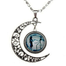 Stylish Charm Crescent Moon Necklace Nightmare Before Christmas Necklace SKY