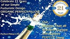 """Cuscino PERFETTO 1996 British Design Organica Grano Saraceno lolla sonno naturale 24 """"X17"""""""