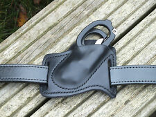 Leather Forward Carry Sheath for Leatherman Raptor,Black,EMS, Right Hip