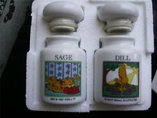 NIB Garfield Spice Jar Collection  Danbury Mint Sage and Dill